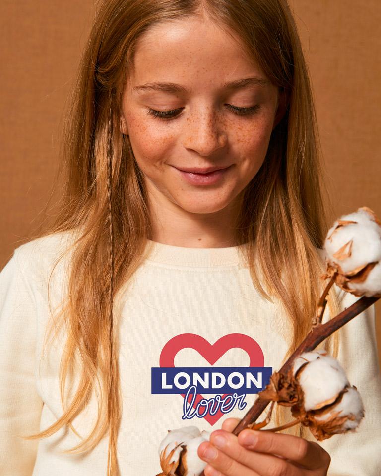 Sweat-beige-fille-london-love
