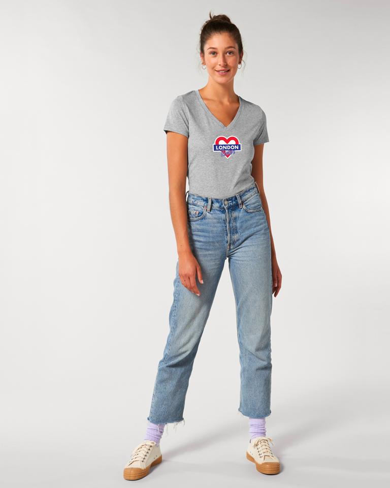 T-shirt-femme-v-gris-london-love