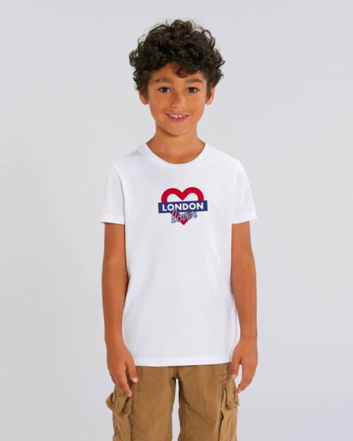 T-shirt-garcon-blanc-london-love