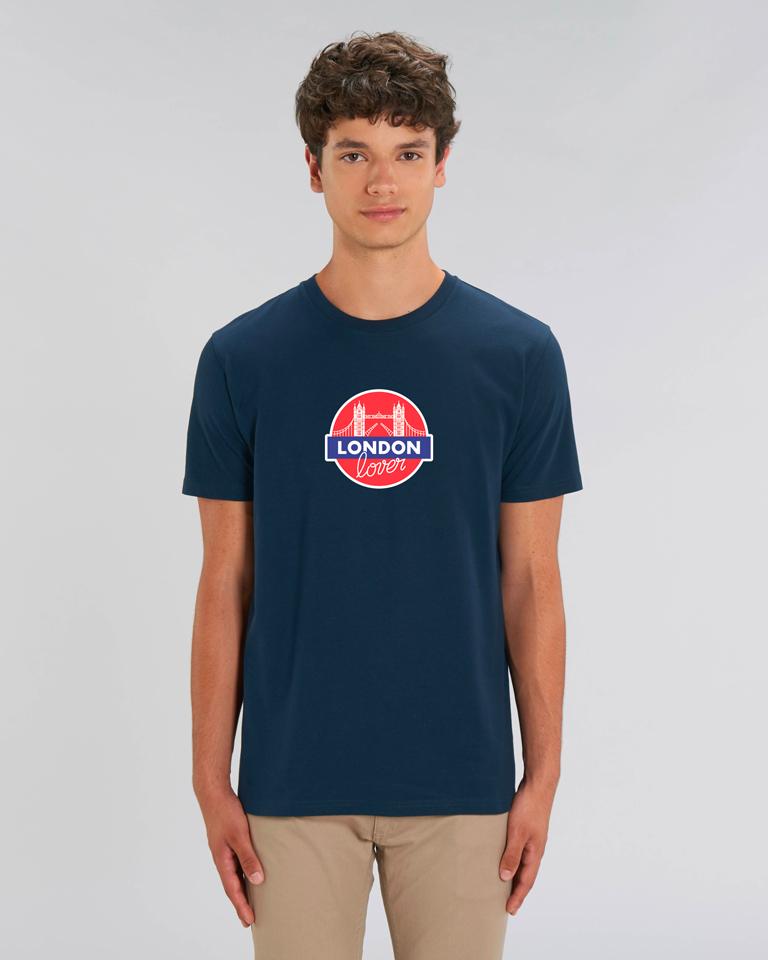 T-shirt-homme-bleu-tower-bridge