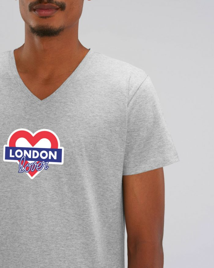 T-shirt-homme-v-gris-london-love