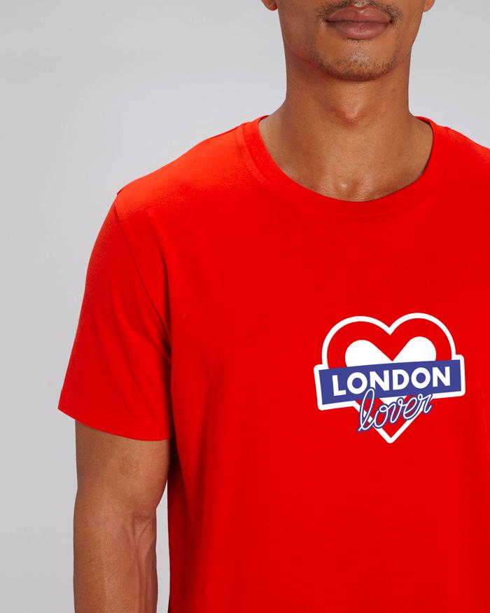 T-shirt-rouge-homme-london-love