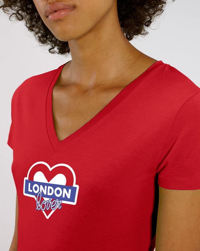 T-sshirt-rouge-femme-v-london-love